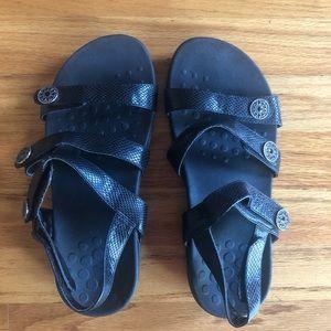Vionic Embossed Multi Strap Velcro Orthotic Sandal